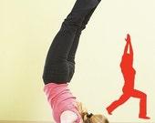 Yoga Warrior I Pose Vinyl Decal