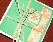 Six Floral notecards