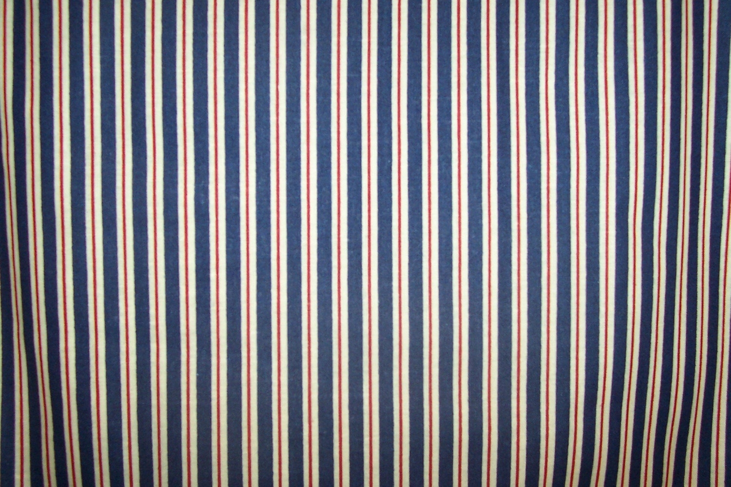 Red White And Blue Vertical Stripe Cotton Fabric 1 Yard