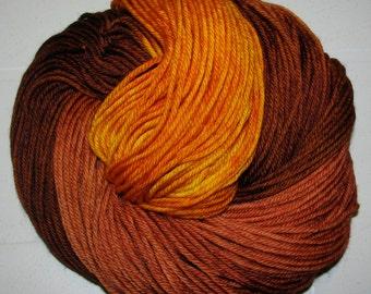 Hand dyed superwash DK yarn LATE FALL