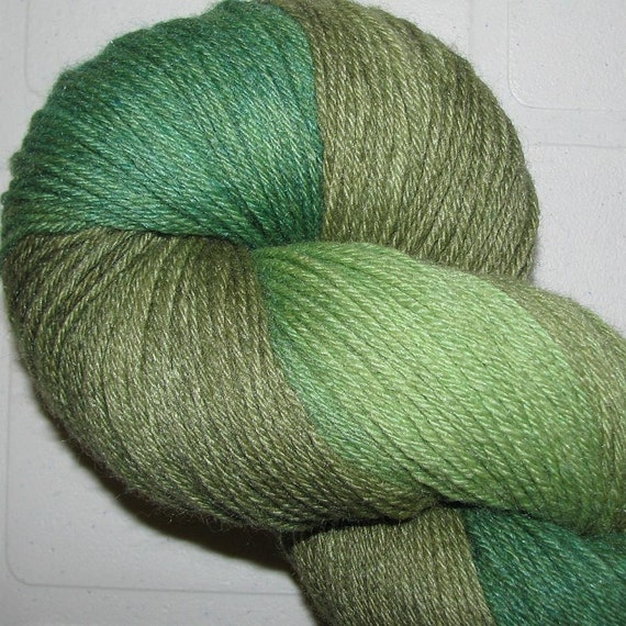 Handdyed Merino and Silk Sock Yarn  MEADOW