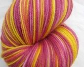 END OF SUMMER SALE - Embers Hand Dyed Superwash Merino Sock Yarn