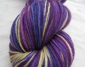 END OF SUMMER SALE - Plum Oat Hand Dyed Superwash Merino Sock Yarn