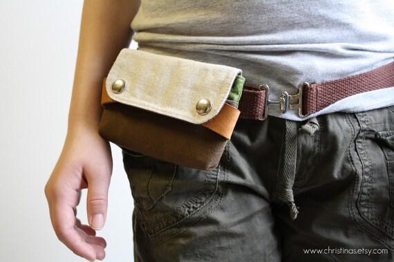UNISEX  pouch belt - pick your color - canvas cotton webbing adjustable belt for a belt pouch
