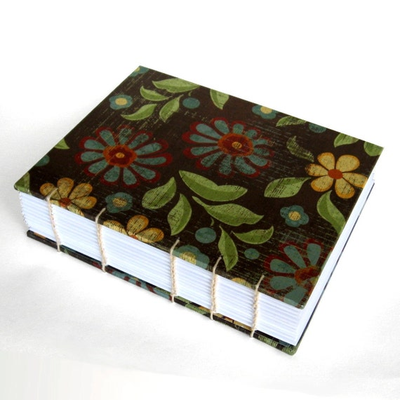 Floral Coptic Travel Journal or Gardening Journal - 288 pgs