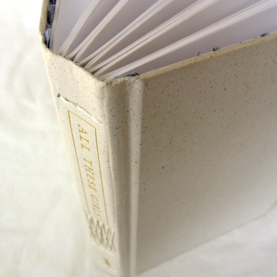 Upcycled cover - Long Stitch Blank Book - All These Girls - 240 pgs