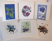 Kathie McCurdy Pressed Flower & Botanical Art  Pansy Collection