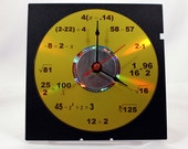 Math Equation Clock (Yellow)