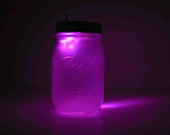 Lavender Mason Jar Night Light
