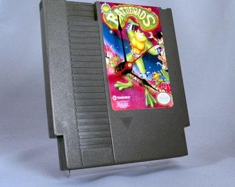 VINTAGE Nintendo Battletoads Cartridge Clock