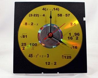 Math Equation Clock (Yellow)