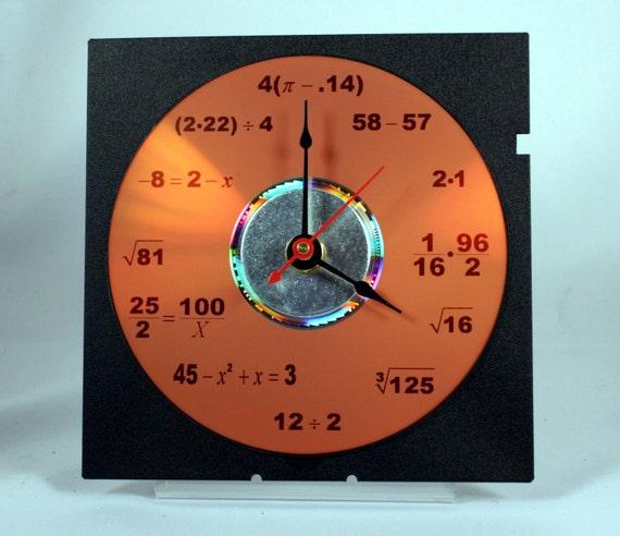 Math Equation Clock (Orange)