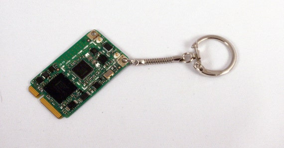 Computer Circuit Board WiFi Key Chain