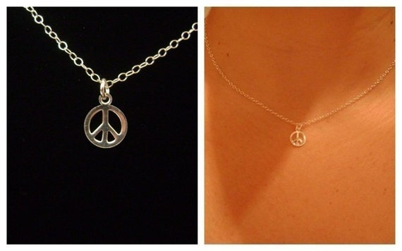 A Bit of Silver Peace Necklace