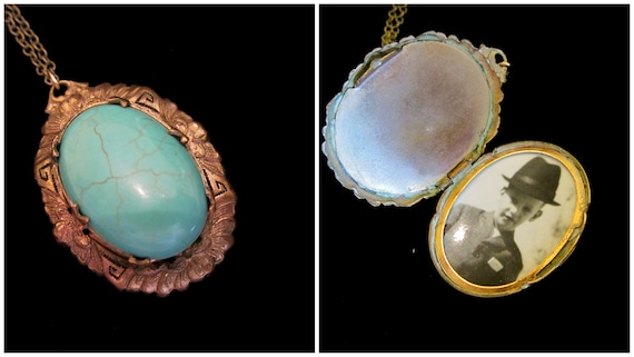 Turquoise Dream - Vintage Locket Necklace