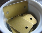 Alterable Gold Aluminum Rectangle Metal Tags