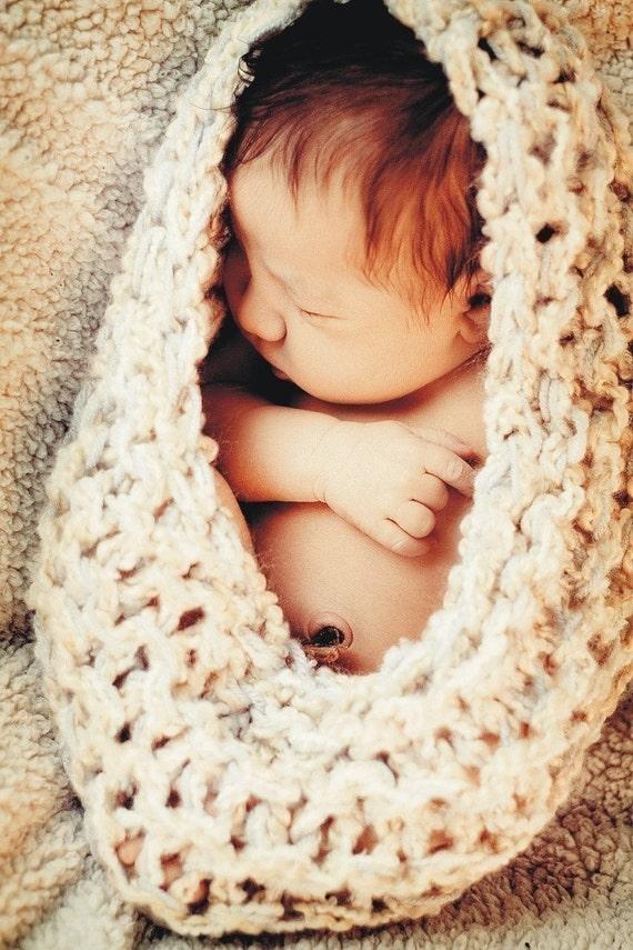 Newborn Knit Cocoon Nest BaBY PHoTO PRoP Newborn Pouch NeUTRaL IVoRy TaN GReY Bowl Prop CHooSE CoLOR PoD Earth Tones Brights SaC Newborn EGG