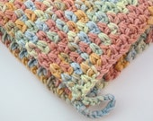 100% Cotton Crocheted Potholder in Buttercream Colorway