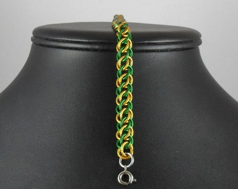 Bronius - Green and Gold Half Persian Bracelet
