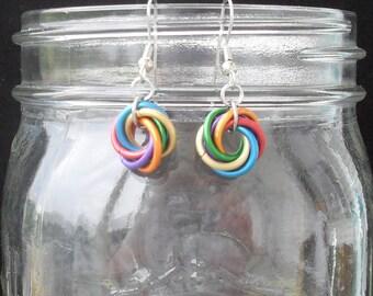 Rainbow Moebius Earrings