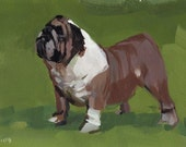 Animal Art Print Dog Bulldog English - Bulldog by David Lloyd