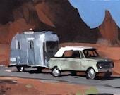 Art Print Airstream Retro Summer Desert Travel - Desert Home by David Lloyd