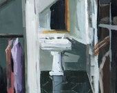 Art Print Male Masculine Closet Dressing Room Sink - Sink by David Lloyd