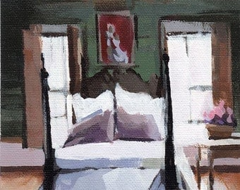 Art Print Bedroom New Orleans Interior - Four Poster by David Lloyd