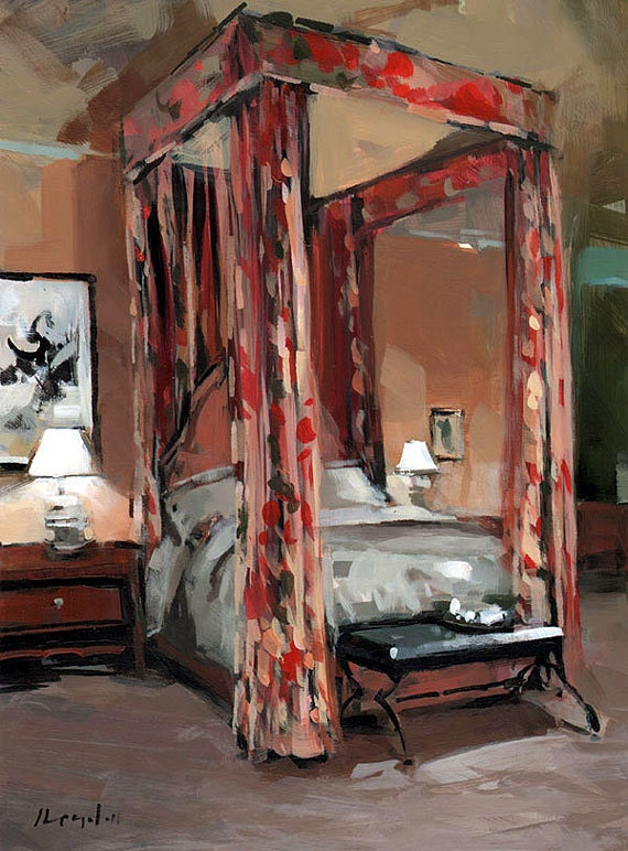 Art Print Floral Interior Curtains Bedroom 9x12 On By