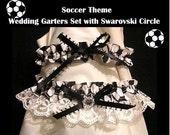 SPORT SOCCER Wedding GARTER 2pc Prom Garters Set New gift Honeymoon wear