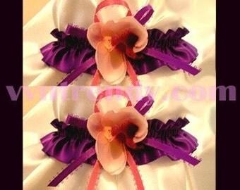 ORCHID PURPLE WEDDING GARTER GARTERS GOWN FAVORS DRESS