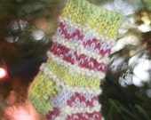 Knitted Christmas Tree Mini Stocking 5 Pattern Set
