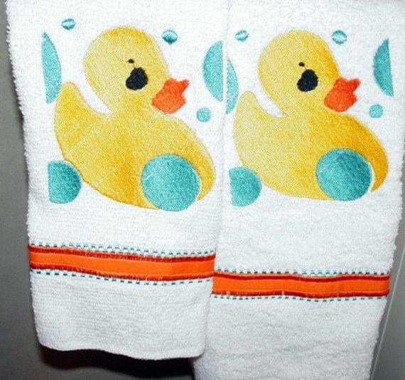 Bath Towels Sale: CLEARANCE SALE Duck Embroidered Bath Towel Set Regular Price