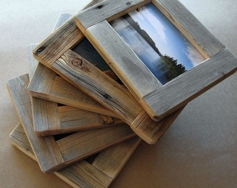 Barnwood FRAME (4x6) handmade from reclaimed weathered wood - rustic refined