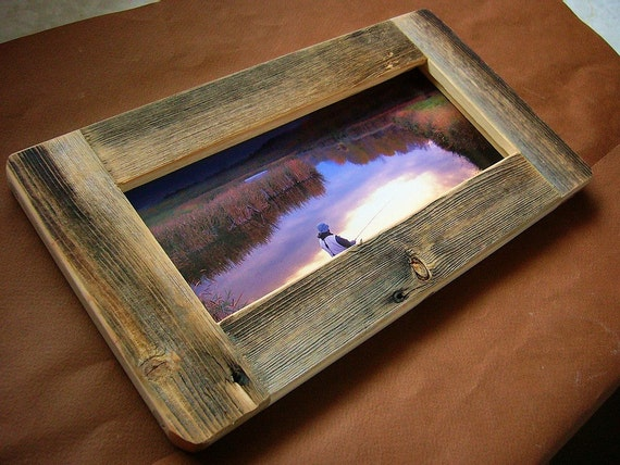 Panoramic Barn Wood Picture Frame Rustic Refined