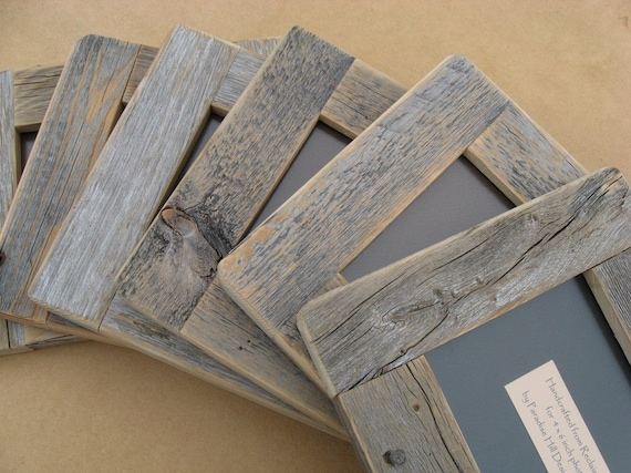 Barnwood FRAME  4x6 rustic refined ... from aged reclaimed wood