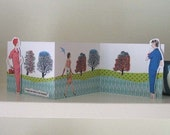 I think your dress is very beautiful - 3d concertina card