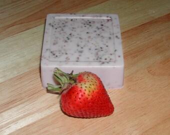 Goat Mil Strawberry Soap-Hand Made-All Natural-Super Moisturizing Big Bar 5.5-6.0 oz.