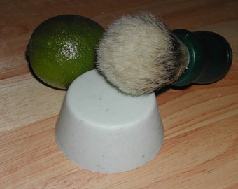 Goat Milk Lime Shaving Soap with vitamin E-Hand Made-All Natural-Super Moisturizing