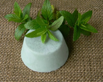 Goat Milk Peppermint Shaving Soap with French Clay and Vitamin E-Hand Made-Natural-Buy 5 & Get 1 Free