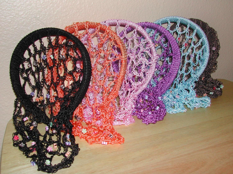 Brand new six old fashion hair nets by evanestorova on etsy