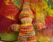 rainbow gnome knitted waldorf