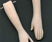 Polymer Clay   Doll Hands Fleshtone Arms with Hands drilled  FHDS 2