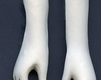 Polymer Clay White  Doll Hands White Hands drilled LDH 2