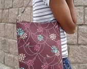 Birds and Beads on Brown - Tote