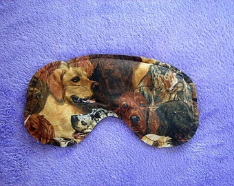 Congestion, Headache and Sinus Pain Relief Mask - Dog Patterned Fabric