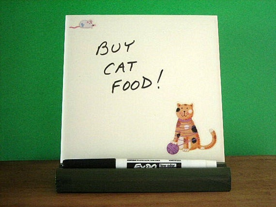 Memo Board - Calico Cat and Mouse - Erasable Message Board
