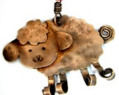 Copper Sheep Lamb Christmas Ornament