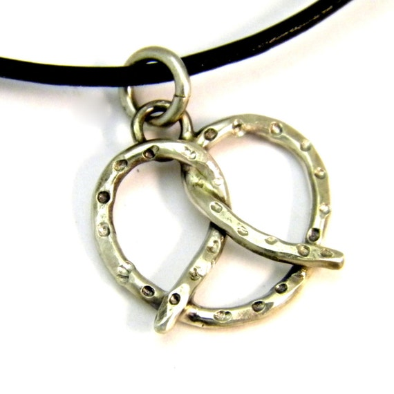 Pretzel Pendant/Necklace Sterling Silver
