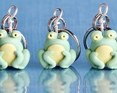 Frog stitch markers (army of 4)